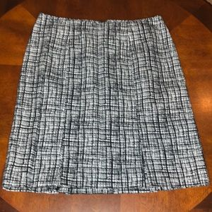 WHBM Tweed Pleated Skirt Size 6